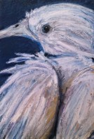 "Before..., Oil pastel on bristol, image 10"" x 7"", framed 18"" x 14"" $250"