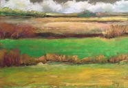 """Thoughts of Ireland, Oil pastel on BFK gray, 7"""" x 10"""", framed 12"""" x15"""" $250"""