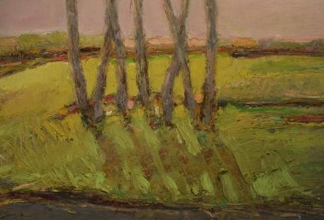 "Vignette Oil pastel on rag board, image 7"" x 10"" , framed 14.5"" x 17.5"", $250"