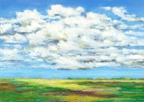"""After the Rain, Oil pastel, image 17"""" x 24"""", framed 18"""" x 25"""" , $720, Giclee also available"""