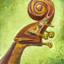 """Hear This, Oil pastel on rag board, image 14"""" x 14"""", SOLD, giclee available"""