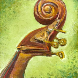 "Hear This, Oil pastel on rag board, image 14"" x 14"", SOLD, giclee available"