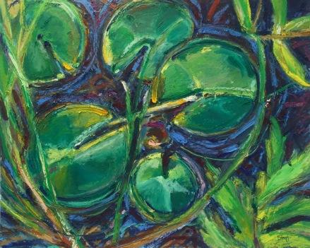 """Communion, Oil pastel, 11"""" x 15"""" unframed, 16"""" x 20"""" framed, $400"""